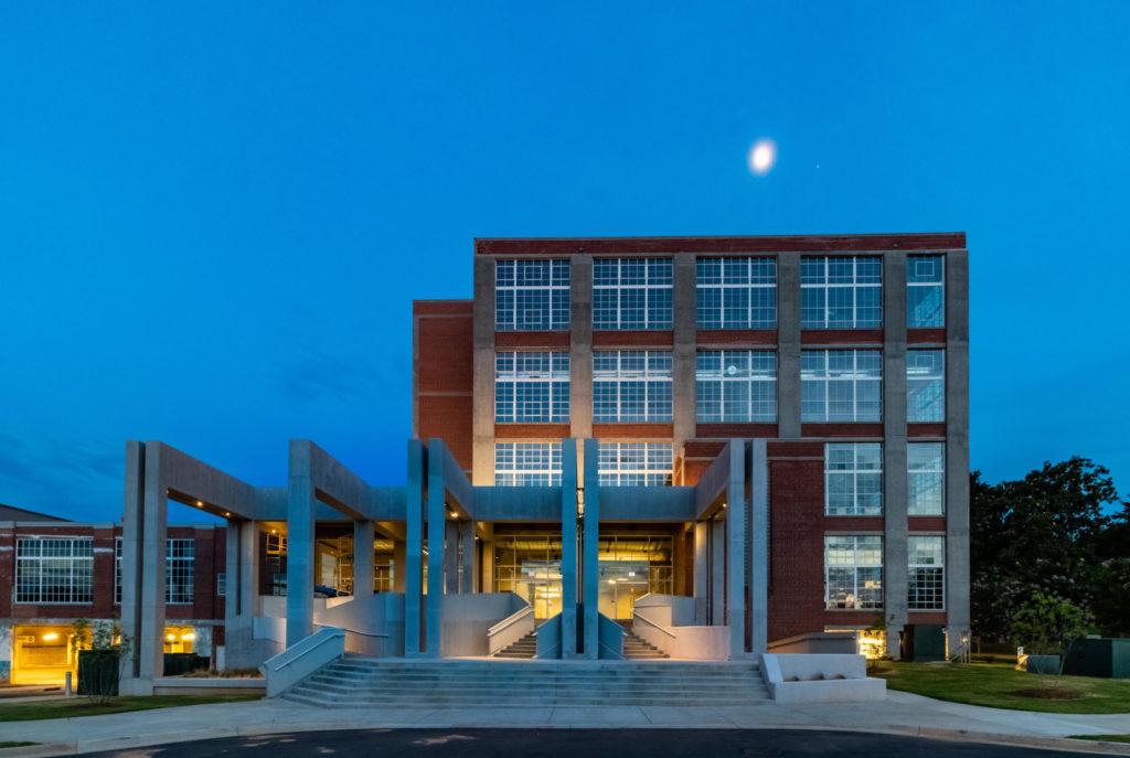 Lowenstein Building at night